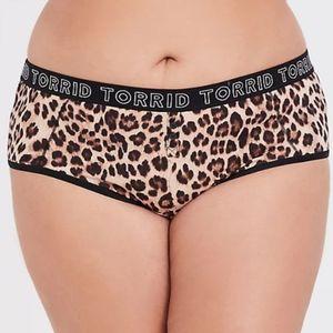 Torrid Leopard Print Cotton Cheeky Panty